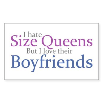 I Hate Size Queens Rectangle Sticker 50 pk)