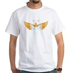 BirdTribes ShamanAngel White T-Shirt DblSided