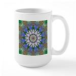 Blue Passion Flower I Large Mug