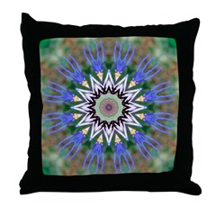 Blue Passion Flower I Throw Pillow