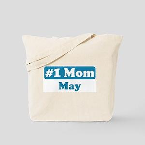 #1 Mom May Tote Bag