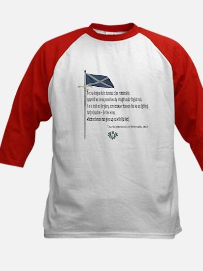 Declaration Of Arbroath Kids Baseball Jersey
