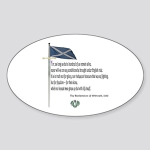 Declaration Of Arbroath Oval Sticker