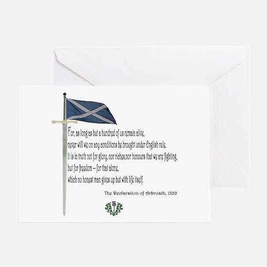 Declaration Of Arbroath Greeting Card