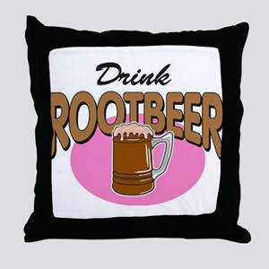 Drink RootBeer Throw Pillow