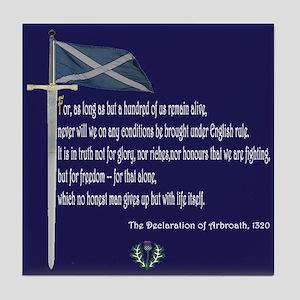 Declaration Of Arbroath Tile Coaster