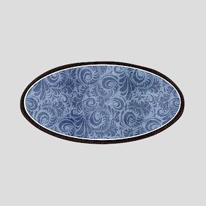 Blue Floral Denim Patch