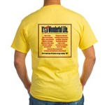 Right NOT Silent /Not Wonderful Life Yellow T