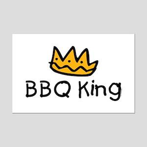 BBQ King Crown Mini Poster Print