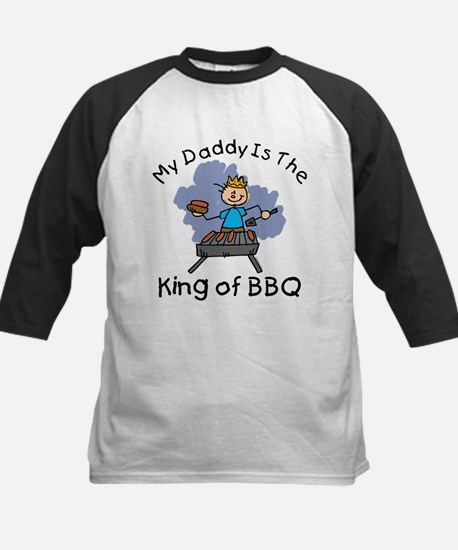 BBQ King Daddy Kids Baseball Jersey