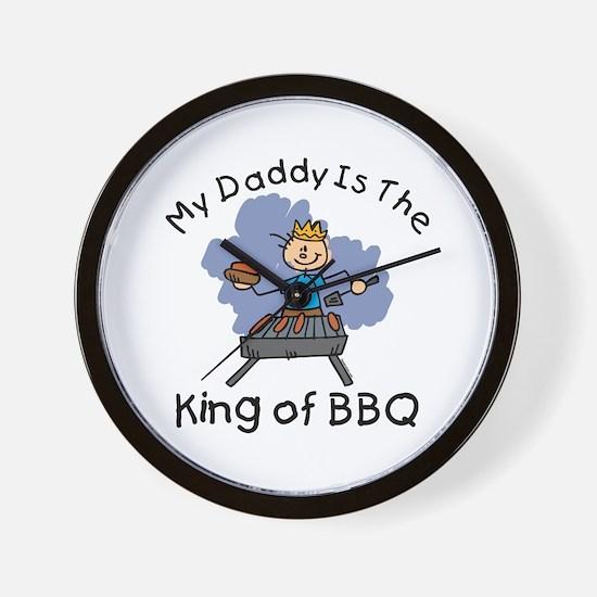 BBQ King Daddy Wall Clock