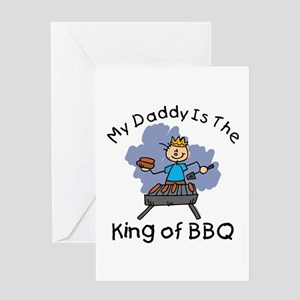 BBQ King Daddy Greeting Card