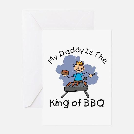 BBQ King Daddy Greeting Card