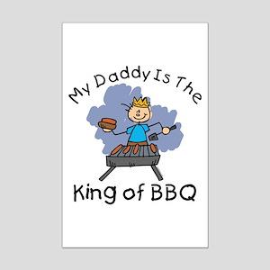 BBQ King Daddy Mini Poster Print