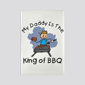 BBQ King Daddy Rectangle Magnet