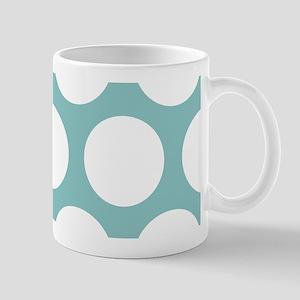 Chalky Blue Large Polka Dots Mug