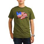 American Flag Butterflies Organic Men's T-Shirt (d