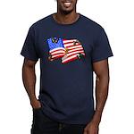 American Flag Butterflies Men's Fitted T-Shirt (da