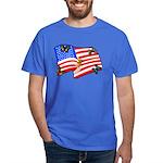 American Flag Butterflies Dark T-Shirt