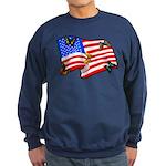 American Flag Butterflies Sweatshirt (dark)
