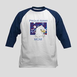 Eagle Proud Army Mom Kids Baseball Jersey