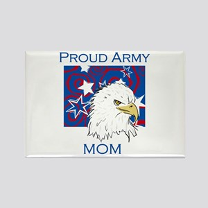 Eagle Proud Army Mom Rectangle Magnet