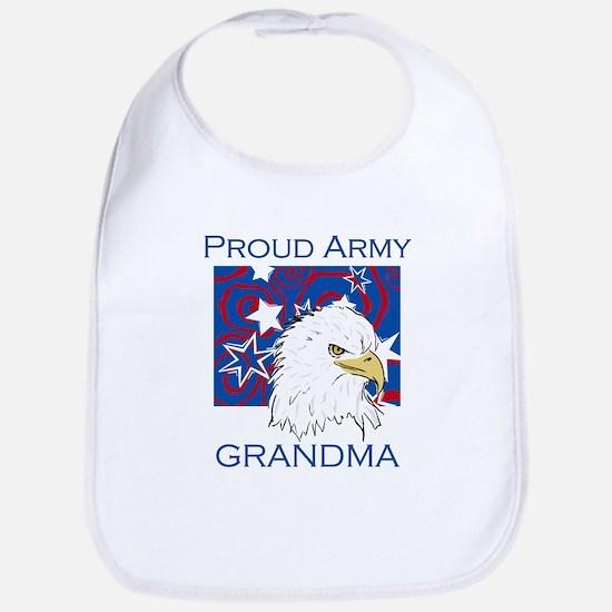 Proud Army Grandma Bib