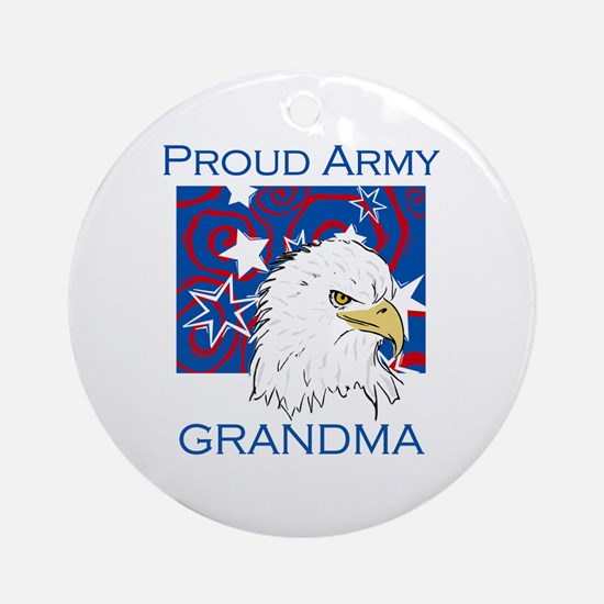 Proud Army Grandma Ornament (Round)