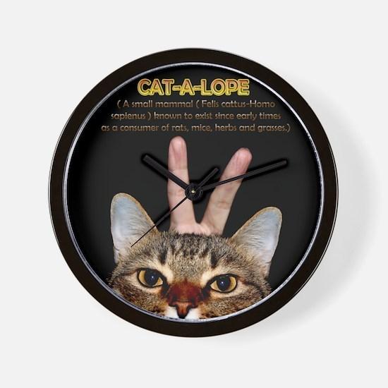 Cat-A-Lope Wall Clock