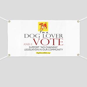 Dog Lover & I Vote Banner