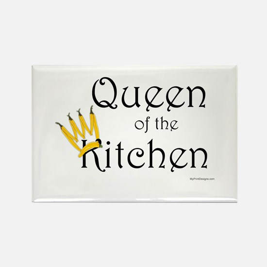 Queen of the Kitchen Rectangle Magnet
