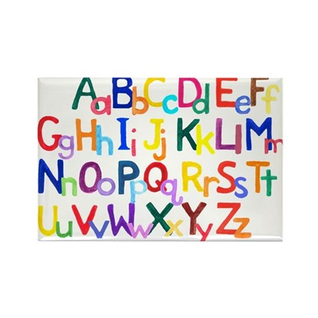 Alphabet Rectangle Magnets (10 pack)
