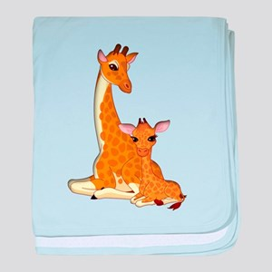 Proud Mom Baby Giraffe baby blanket