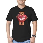 Love You Beary Much Men's Fitted T-Shirt (dark)
