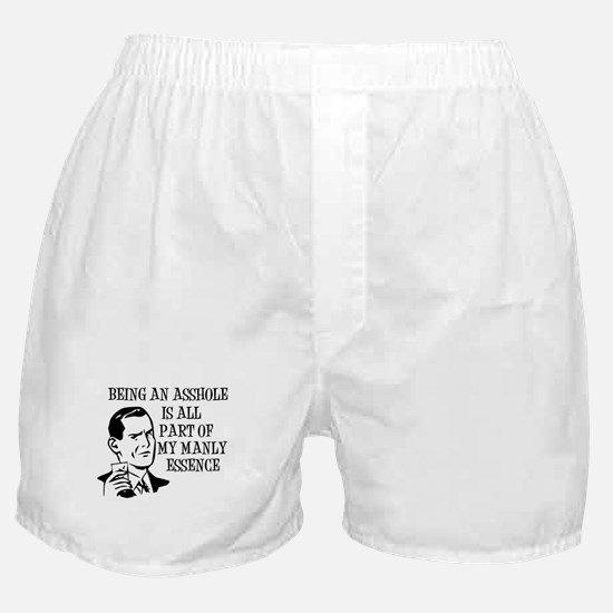B&W Being An Asshole Boxer Shorts