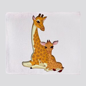 Proud Mom Baby Giraffe Throw Blanket