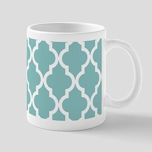 Chalky Blue Moroccan Pattern Mug