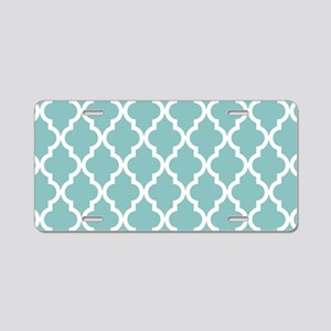 Chalky Blue Moroccan Patter Aluminum License Plate