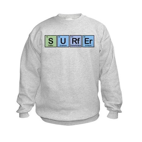 Surfer made of Elements Kids Sweatshirt