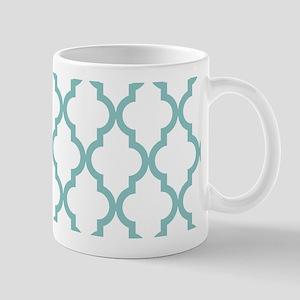 Chalky Blue Moroccan Pattern (Reverse) Mug