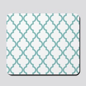 Chalky Blue Moroccan Pattern (Reverse) Mousepad