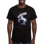 Rainbow Unicorn Men's Fitted T-Shirt (dark)
