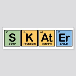 Skater made of Elements Bumper Sticker