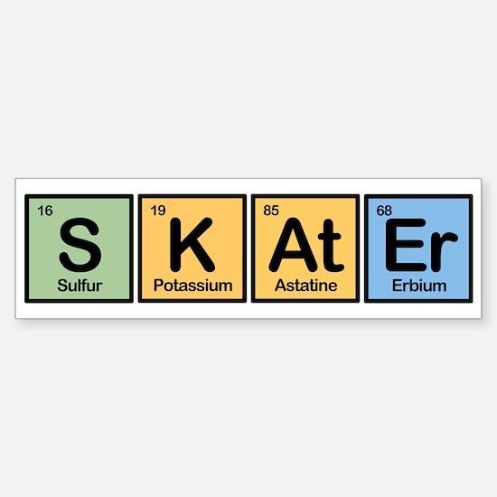 Skater made of Elements Bumper Bumper Bumper Sticker