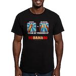 Obama NObama Big Asshole Men's Fitted T-Shirt (dar