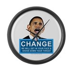 Obama-style CHANGE Large Wall Clock