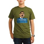 Obama-style CHANGE Organic Men's T-Shirt (dark)