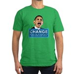 Obama-style CHANGE Men's Fitted T-Shirt (dark)