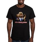 Obama Lipstick Jackass Men's Fitted T-Shirt (dark)