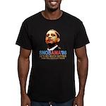 SNOBAMA '08 anti-Obama Men's Fitted T-Shirt (dark)